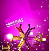 image of merry chrismas  - Colorful bright Chrismas card - JPG