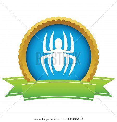 Gold spider logo