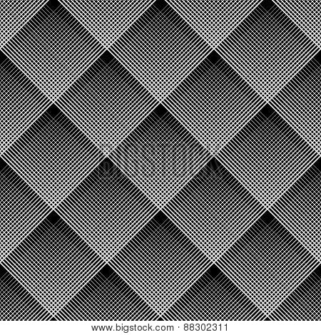 Diagonal checked pattern. Seamless geometric texture. Vector art.