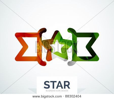 Abstract colorful logo design, awards. Made of color shapes
