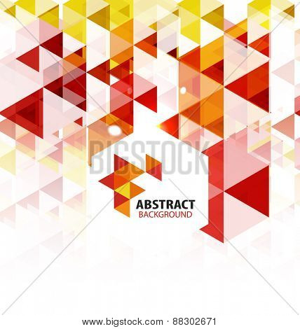 Geometric abstract polygonal background design