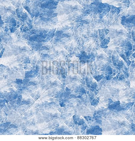 Seamless ice texture closeup background.
