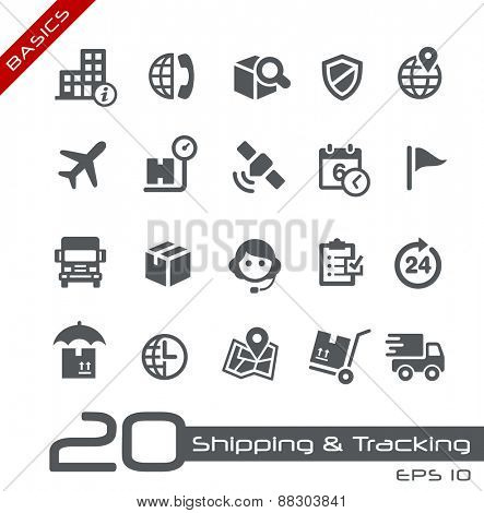 Shipping & Tracking Icons // Basics