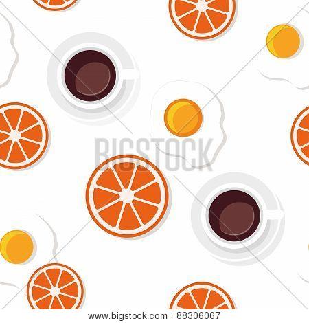 Breakfast food and drinks pattern