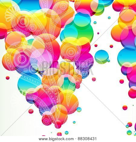 Abstract background with bright circles.