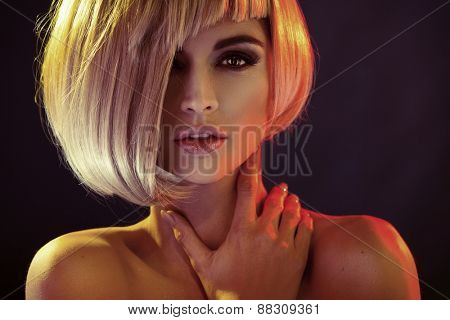 Portrait of an attractive blonde beauty