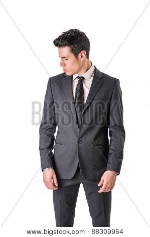 Handsome elegant young man with business suit