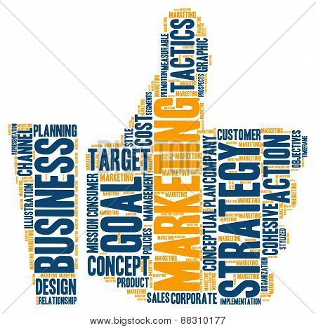 Thumbs-Up Marketing Word Cloud
