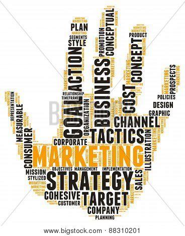 Hand Shaped Marketing Word Cloud