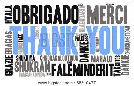 Thank You International Word Cloud