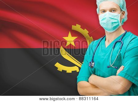 Surgeon With National Flag On Background Series - Angola