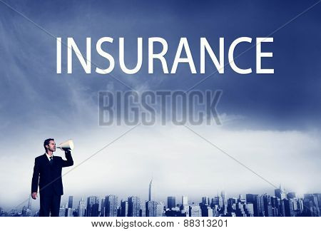 Business Insurance Policy Safety Protection Concept
