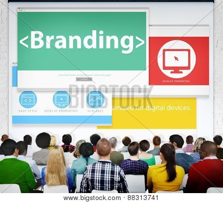 Branding Marketing Web Page Seminar Presentation Concept