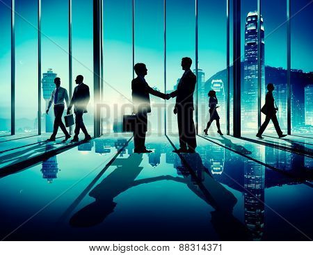 Corporate Business Team Connection Discussion Working Concept