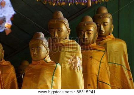 Buddhist Monks With Topknots