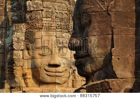 Face Tower Of Bayon Temple