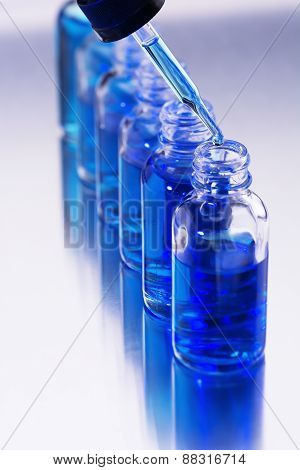 Test Jars and Drop from a pipette