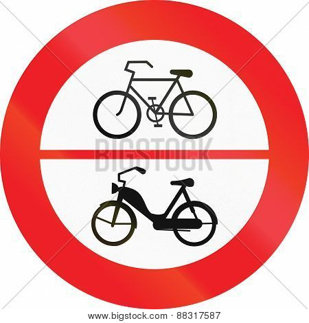 No Bicycles And Mopeds
