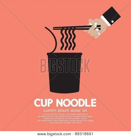 Instant Cup Noodle.