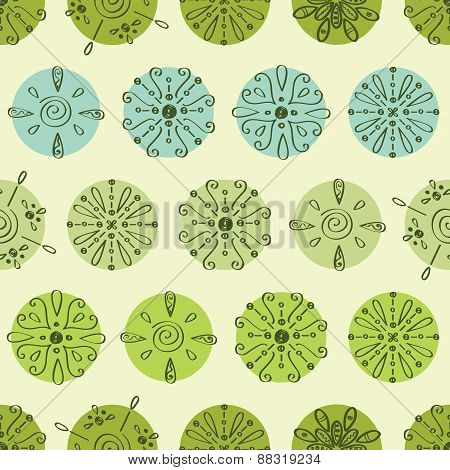 Vector abstract green polka dot stripes seamless pattern background