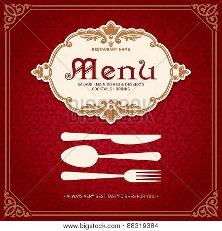 Restaurant Menu Design Vintage Style 2