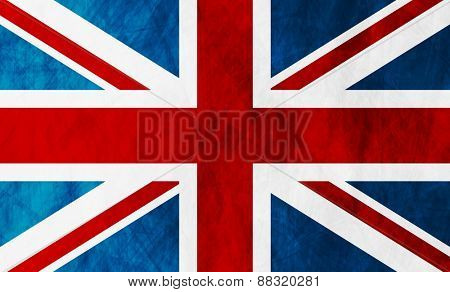 United Kingdom of Great Britain grunge flag. Vector background