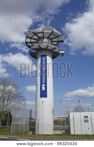 Frankfurt Airport - Radar Tower Of The Deutsche Flugsicherung (dfs)