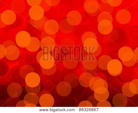 Red Blurred Light Background