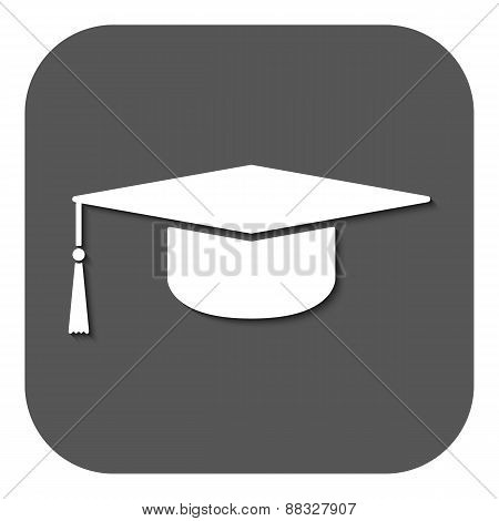 The Graduation Cap Icon. Education Symbol.