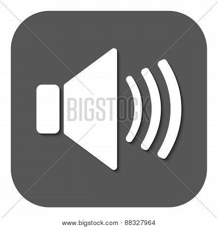 The Speaker Icon. Sound Symbol. Flat