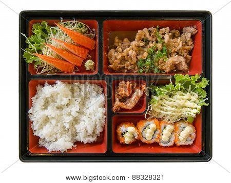 Sushi Set. Isolated On White Background