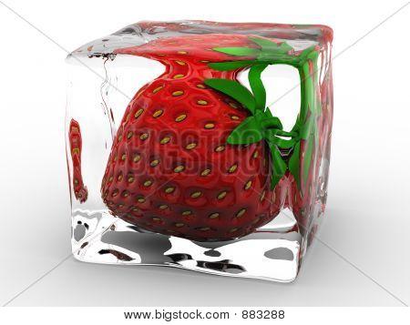Fresa en hielo