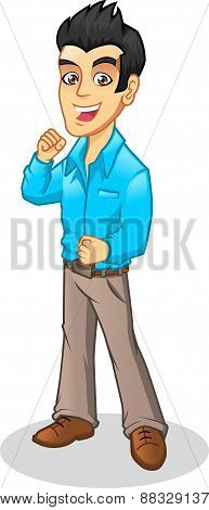 Young Employee Vector Cartoon Illustrations