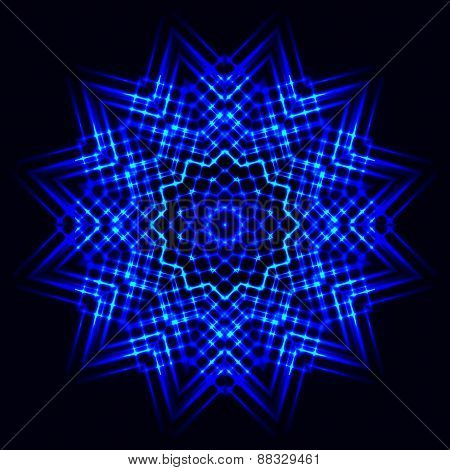 Abstract Cosmic Star Snowflake
