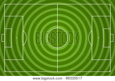 Soccer Field Vector Illustration