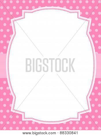 Pink Polka Frame / Background