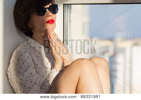 Dreamy Girl Near The Window