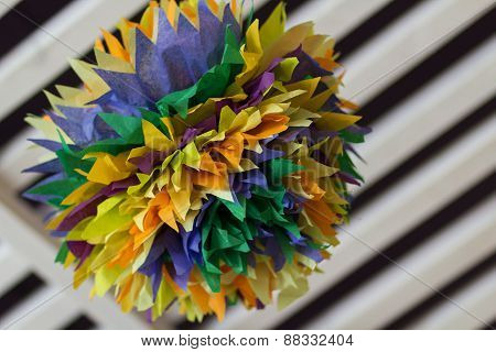 Colorful Interior Pom Poms