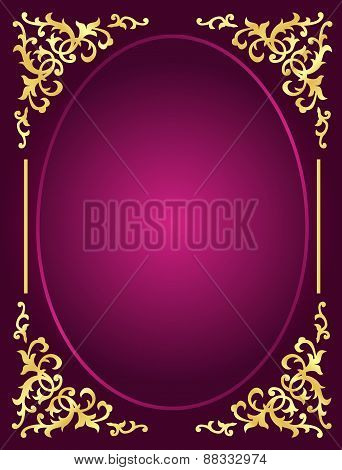 Ornamental Party / Wedding Inviation Card Background