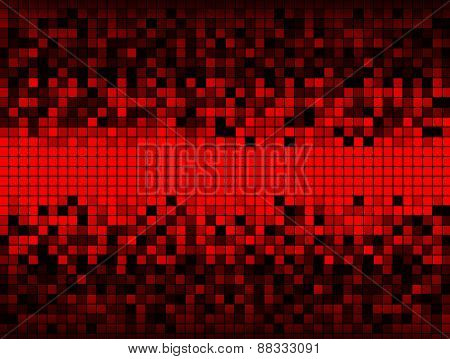 Grid Of Red And Black Squares
