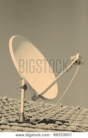Satellite dish or parabola or antenna retro style