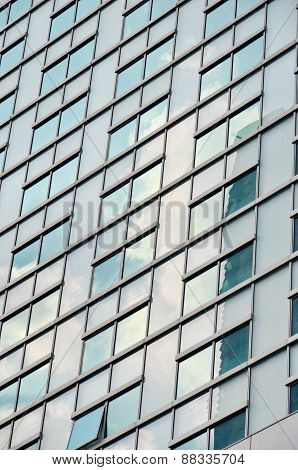 Business background, windows of an office building