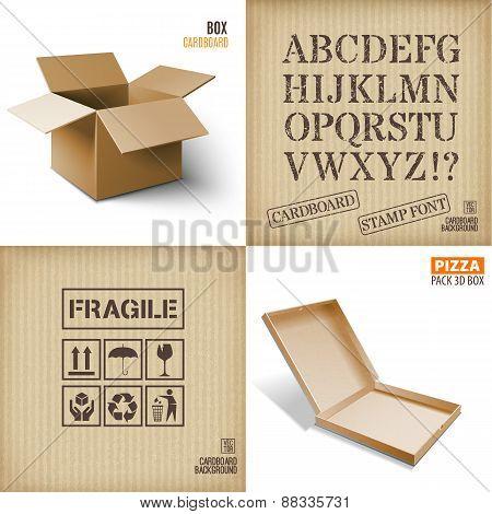 Cardboard set.