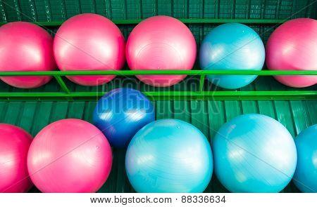 Yoga Balls At The Gym