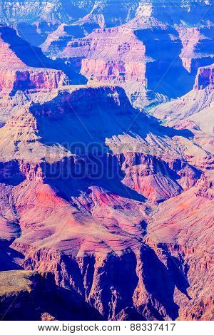 Grand Canyon, Sunny Day With Blue Sky