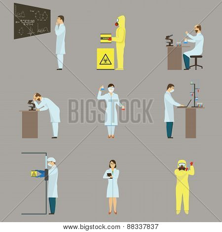 Set of Scientific Characters