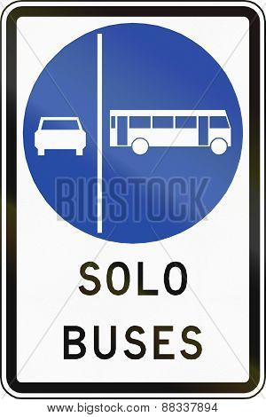 Buses Only In Chile