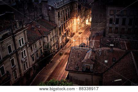 Strossmayer Street In Rijeka, Croatia