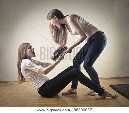 Sisters fighting