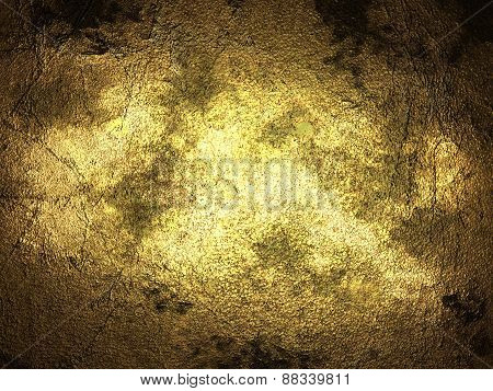 Abstract Grunge Gold Texture.